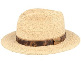 Traveller Raffia Beige/Brown Straw Hat - Stetson