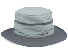 Nylon Light Green/Grey Bucket - Stetson