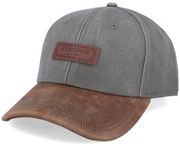 Baseball Cotton Washed Olive/Brown Adjustable - Stetson