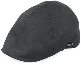 Texas Duck Shape Texas Co/Pes Black Flat Cap - Stetson