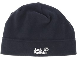 Real Stuff Black Beanie - Jack Wolfskin