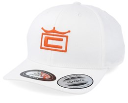 Kids Youth Crown White/Orange Adjustable - Cobra