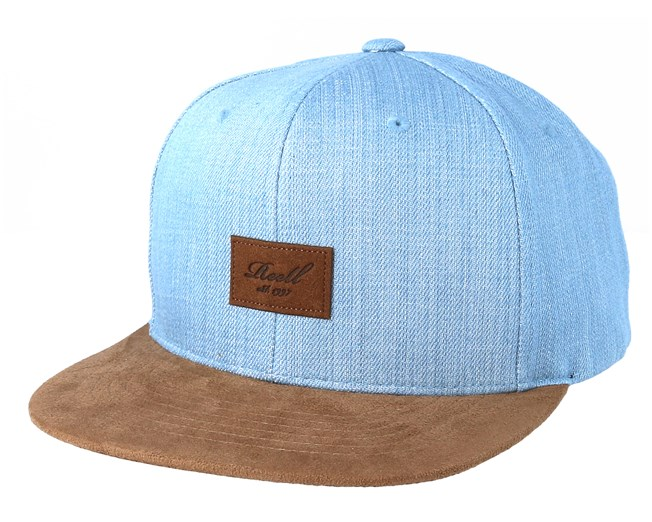 Suede 6-Panel Light Denim Snapback - Reell caps - Hatstoreworld.com f0ba449d7f2e