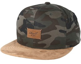 Suede 6-Panel Camouflage Snapback - Reell