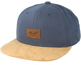 82ff70bfa5d0d Suede Charcoal Brown Snapback - Reell