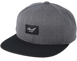 Pitchout 6-Panel Charcoal/Black Snapback - Reell