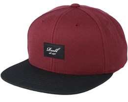 Pitchout 6-Panel Maroon/Black Snapback - Reell
