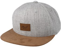 Suede Heather Light Grey Snapback - Reell