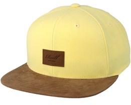 Suede Light Yellow/Brown Snapback - Reell