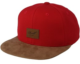 Suede Red/Brown Snapback - Reell