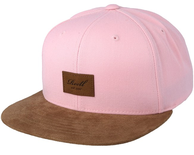 77348f7125a4dc Suede Light Pink Snapback - Reell caps | Hatstore.co.uk