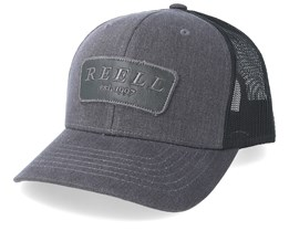 Curved Charcoal/Black Trucker - Reell