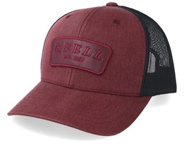 Curved Burgundy/Black Trucker - Reell