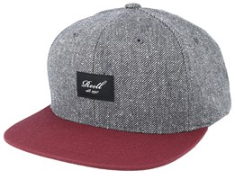 Pitchout Charcoal Speckle/Maroon Snapback - Reell