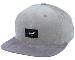 Suede Olive Green Ribcord/Grey Snapback - Reell