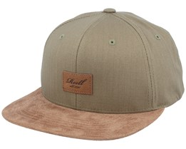 Suede Military Olive Green Snapback - Reell