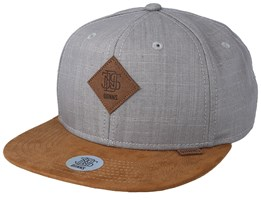 Linen Grey/Brown Snapback - Djinns