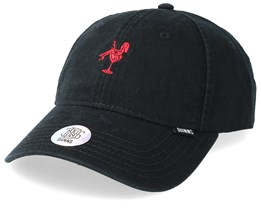 Washed Girl Dad Cap Black/Red Adjustable - Djinns