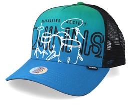 Hft Drums Blue/Green Trucker - Djinns
