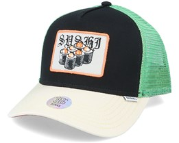 Hft Cap Food Sushi Black Trucker - Djinns