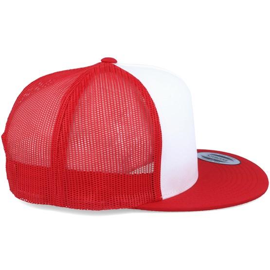 Classic Trucker White Red Snapback - Yupoong cap - Hatstore.co.in 855e9eaa5e6d