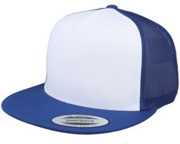Flexfit White/Royal Trucker - Yupoong