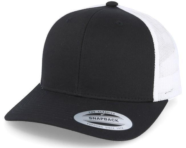 Retro 2 tone Black White Trucker - Yupoong lippis - Hatstore.fi 63d1894999