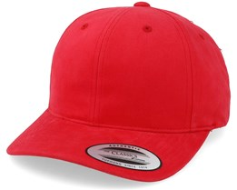 Brushed Cotton Twill Mid-Profile Red Adjustable - Yupoong
