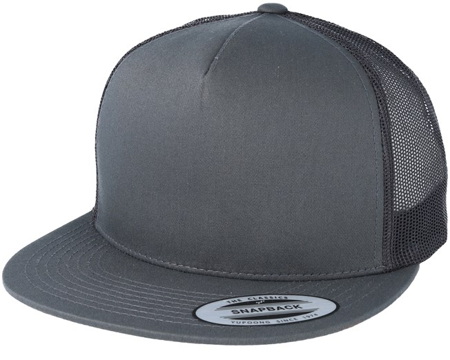 plus récent 1da36 ced78 Charcoal Trucker Snapback - Yupoong - casquette | Hatstore.fr