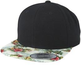 Floral Mint Black Snapback - Yupoong