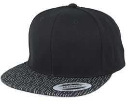 Fallen Lines Black Snapback - Yupoong