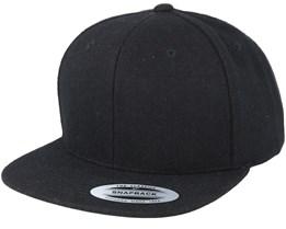 Black Wool Snapback - Yupoong
