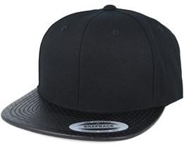 Perforated Visor Black Snapback - Yupoong