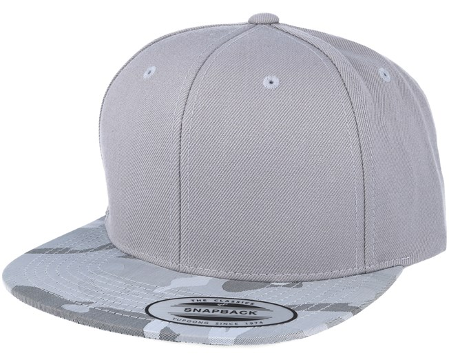 fcb367c3 Visor Silver Camo Snapback - Yupoong caps - Hatstoreworld.com