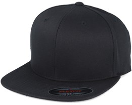 Flat Brim Black Fitted - Flexfit