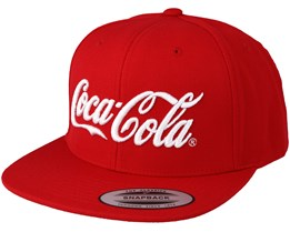 Coca Cola Logo Red Snapback - Mister Tee