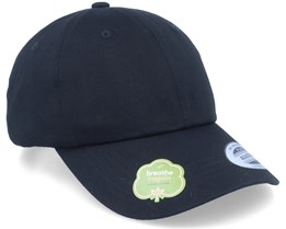 Organic Dad Cap Black Adjustable - Yupoong