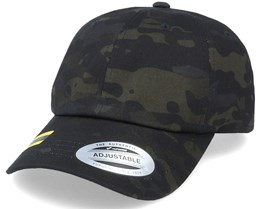 Multicam Low Profile Black Dad Cap - Yupoong