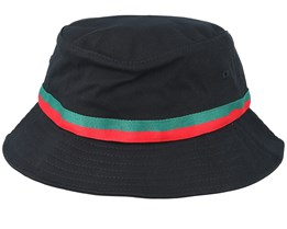 Stripe Black Bucket - Yupoong