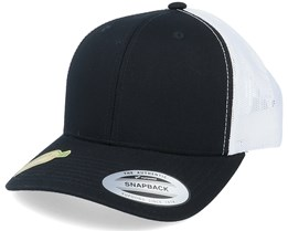 Classics Recycled Retro Trucker Black/White Flexfit - Yupoong