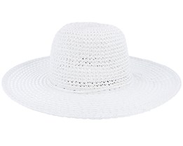 Paper Crochet Floppy White Sun Hat - Seeberger