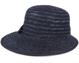In Straw Braid Black Cap - Seeberger