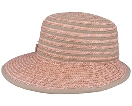 Cap In Straw Braid Rose Gold/Sand Straw - Seeberger