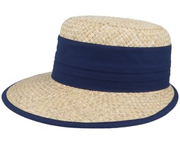 Woman Cap Natural/Swallow Blue Straw Hat - Seeberger