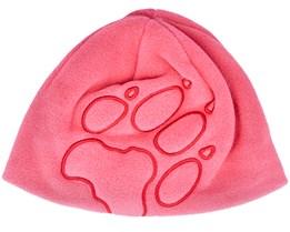 Kids Front Paw Hat Coral Pink Beanie - Jack Wolfskin