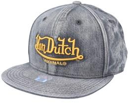 Flat Bill Denim Acid Black Snapback - Von Dutch
