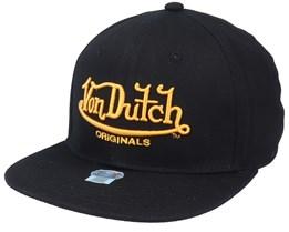 Flat Bill Cotton Black Snapback - Von Dutch