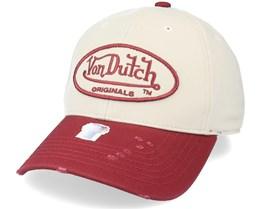Baseball Cotton Beige/Bordaux Adjustable - Von Dutch