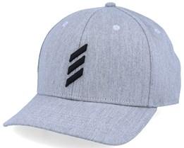 Golf Bold Stripe Heather Grey/Black Adjustable - Adidas