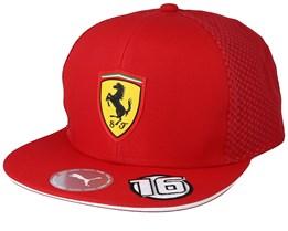 Kids Scuderia Ferrari LECLERC Red Snapback - Formula One